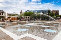Plaza olímpica en Calgary céntrica imágenes de archivo libres de regalías