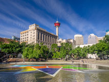 Plaza olympique, Calgary Photographie stock