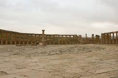 Plaza oval, Jerash Imágenes de archivo libres de regalías