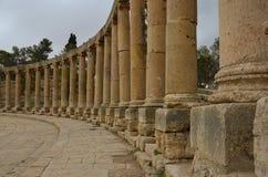 Plaza oval, Jerash Fotografía de archivo libre de regalías