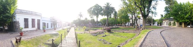Plaza panorâmico Imagem de Stock