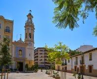 Plaza Patraix square and church in Valencia royalty free stock image