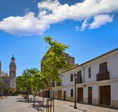 Plaza Patraix square and church in Valencia royalty free stock images