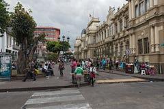 Plaza peatonal de Juan Rafael Mora Calle 2, San Juan, Costa Rica del área Imagen de archivo libre de regalías