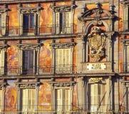 plaza peinte par maire de Madrid de façade Photos stock