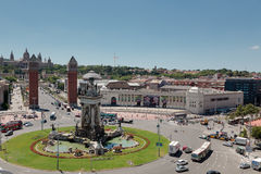 plaza pla espanya της Βαρκελώνης δ de espana Στοκ φωτογραφίες με δικαίωμα ελεύθερης χρήσης