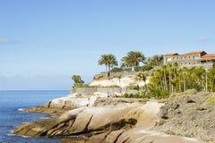 Plaza Playa del Duque, Duke Castle, Costa Adeje, Tenerife, Spain Royalty Free Stock Photos