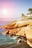 Plaza Playa del Duque, Duke Castle, Costa Adeje, Tenerife, Spanien Fotografering för Bildbyråer