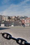 Plaza Plebiscito, Nápoles Foto de archivo