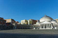 Plaza Plebiscito. Photo of Naples in Summer Royalty Free Stock Images