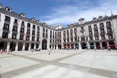 Plaza Porticada στο σαντάντερ, Ισπανία Στοκ εικόνα με δικαίωμα ελεύθερης χρήσης
