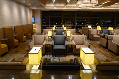 Plaza Premium Lounge. SINGAPORE - NOVEMBER 10, 2015: interior of Plaza Premium Lounge. Plaza Premium Lounge is a global service brand headquartered in Hong Kong royalty free stock images