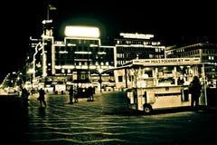 Plaza principal - abajo ciudad Copenhague, Dinamarca fotografía de archivo