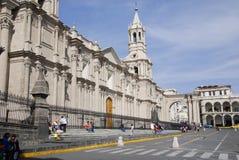 Plaza principal de Arequipa Fotos de archivo libres de regalías