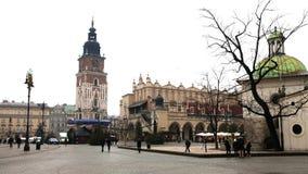 Plaza principal de Kraków foto de archivo libre de regalías