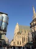 Plaza principal del centro de ciudad de Viena imagenes de archivo