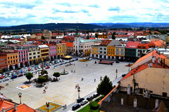 Plaza principal del ¾ del› Å™ÃÅ de KromÄ Imagen de archivo libre de regalías