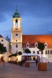 Plaza principal en Bratislava Imagen de archivo libre de regalías