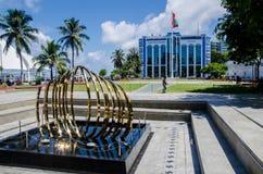 Plaza principal en el varón maldives Imágenes de archivo libres de regalías