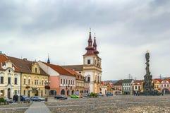 Plaza principal en Kadan, República Checa Fotografía de archivo libre de regalías