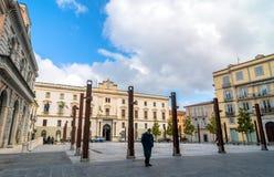 Plaza principal en Potenza, Italia Imagen de archivo
