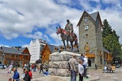 Plaza principal en San Carlos De Bariloche imágenes de archivo libres de regalías