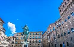 Plaza principal Florence Italy Imagen de archivo libre de regalías