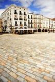 Plaza principal, la ciudad medieval de Caceres, Extremadura, España Imagenes de archivo