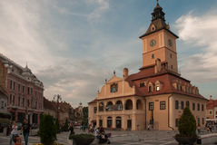 Plaza principal Rumania de Brasov Fotos de archivo