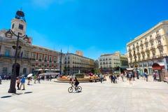 Plaza Puerta del Sol Στοκ Εικόνες