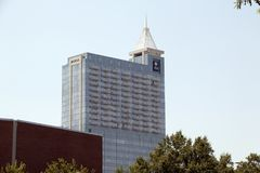 Plaza Raleigh, la Caroline du Nord, Etats-Unis de l'immeuble de bureaux de banque de PNC PNC photo stock