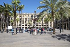 The Plaza Real in Barcelona Stock Images