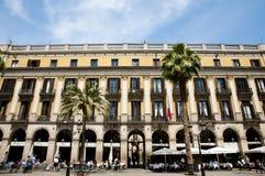 Plaza Real - Barcelona - Spain stock image