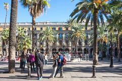 The Plaza Real in Barcelona Royalty Free Stock Image