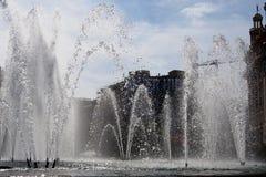Plaza Real Fountain, Barcelona, Spain Royalty Free Stock Photos