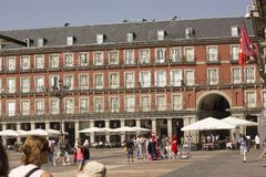 Plaza Real, Madrid, Spain - August 17, 2013 royalty free stock photo