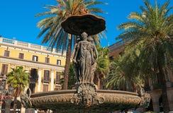 Plaza reale, Barcellona - Spagna Fotografia Stock Libera da Diritti
