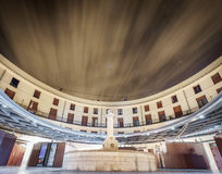 Plaza Redonda, Public round square long exposure in Valencia Royalty Free Stock Photos