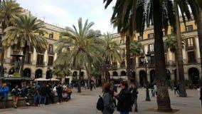 Plaza Reial Βαρκελώνη Στοκ Φωτογραφία