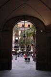 Plaza Reial 2. Gate through to Plaza Reial, Barcelona Stock Photography