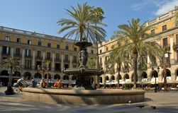 Plaza Reial Photo stock