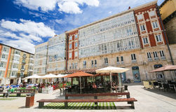 Plaza Rey SAN Fernando στο Burgos, Ισπανία Στοκ εικόνες με δικαίωμα ελεύθερης χρήσης