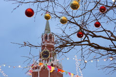 Plaza Roja de la decoración de la Navidad en Moscú Fotos de archivo