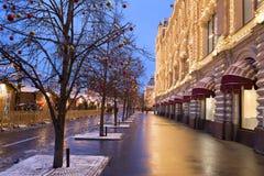 Plaza Roja de la decoración de la Navidad en Moscú Fotografía de archivo