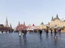Plaza Roja en la Navidad del invierno Foto de archivo libre de regalías