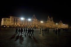 Plaza Roja en la noche Imágenes de archivo libres de regalías