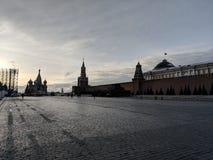 Plaza Roja en la salida del sol foto de archivo libre de regalías