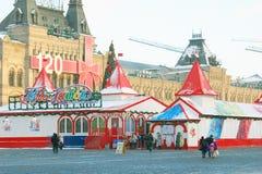 Plaza Roja en Moscú en invierno Fotografía de archivo