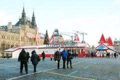 Plaza Roja en Moscú en invierno Imágenes de archivo libres de regalías