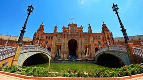 plaza séville Espagne de de espana Photos libres de droits